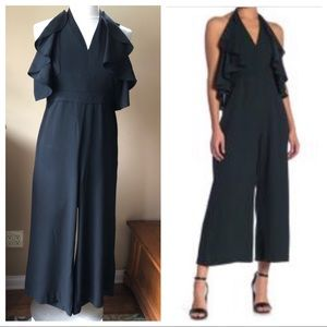 NWT Romeo & Juliet Couture Black Jumpsuit Halter